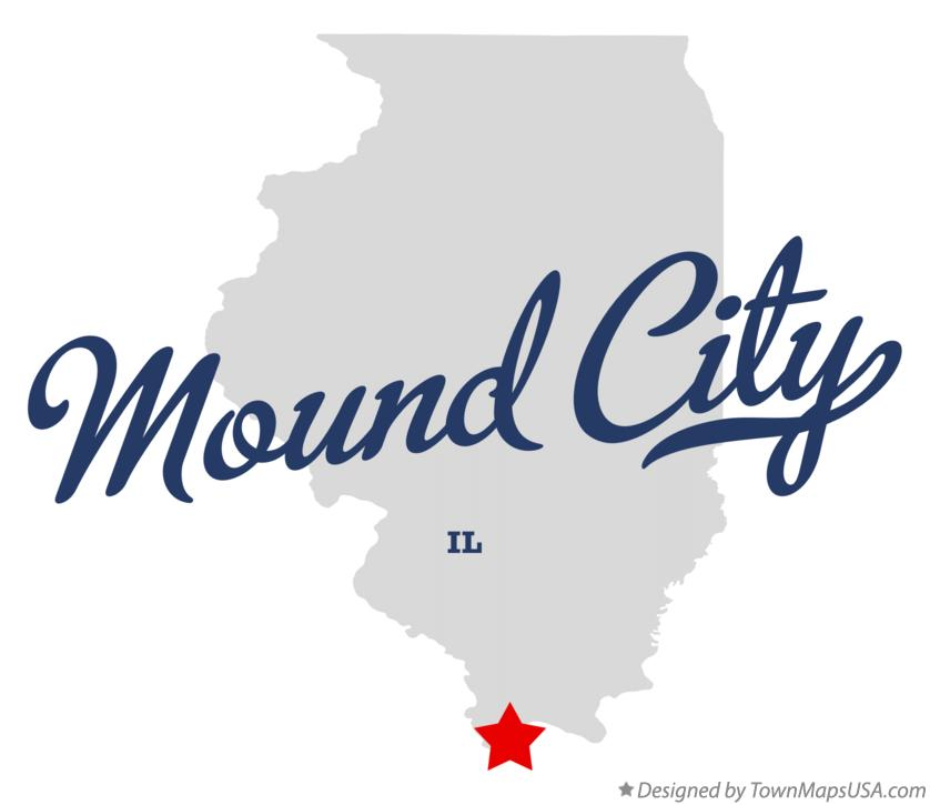 Map of Mound City Illinois IL