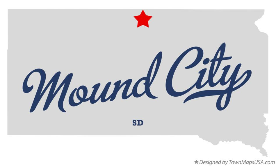 Map of Mound City South Dakota SD