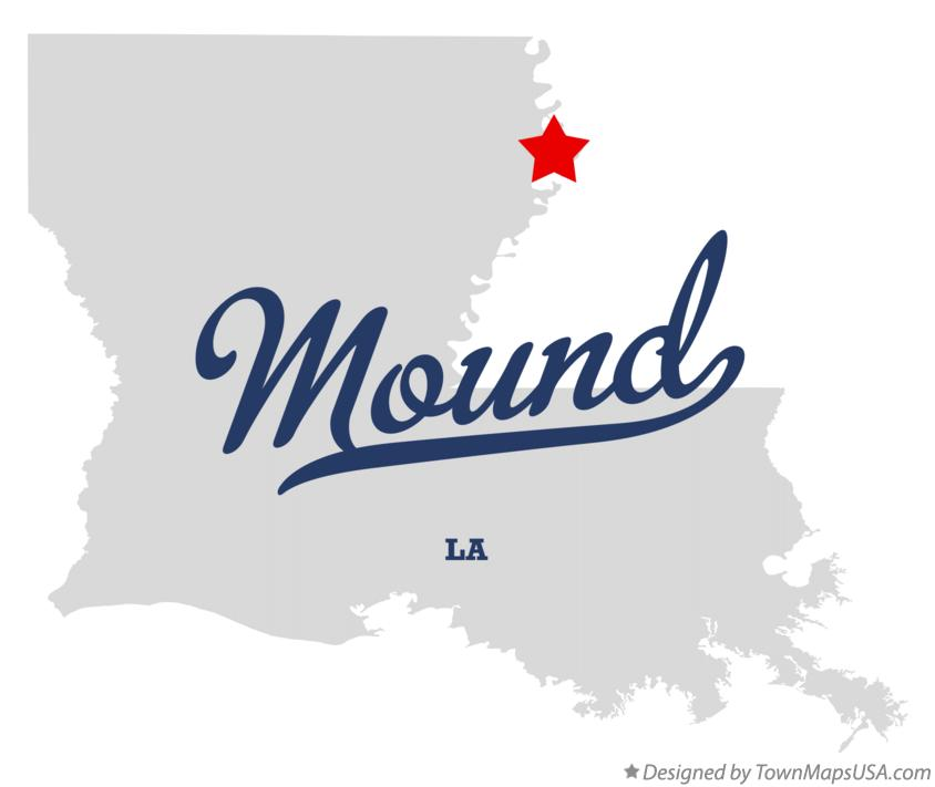 Map of Mound Louisiana LA