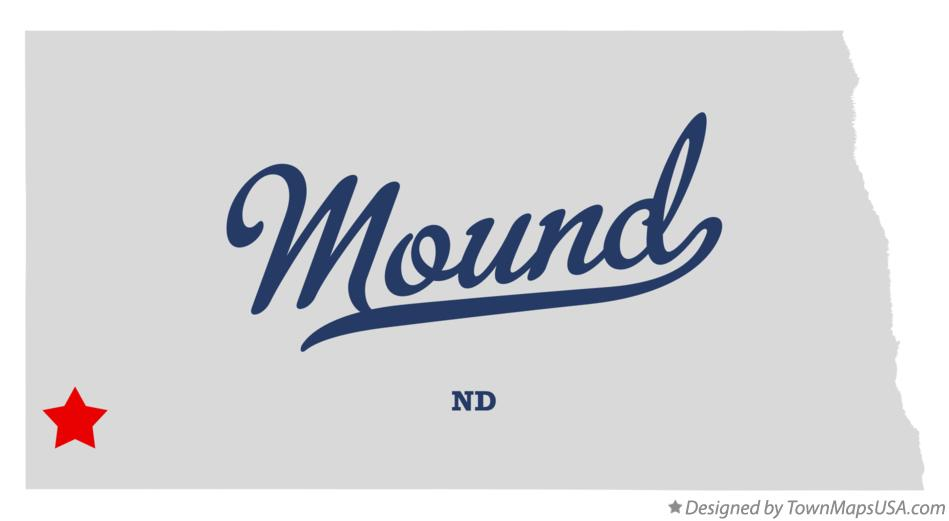 Map of Mound North Dakota ND