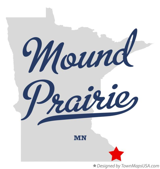 Map of Mound Prairie Minnesota MN