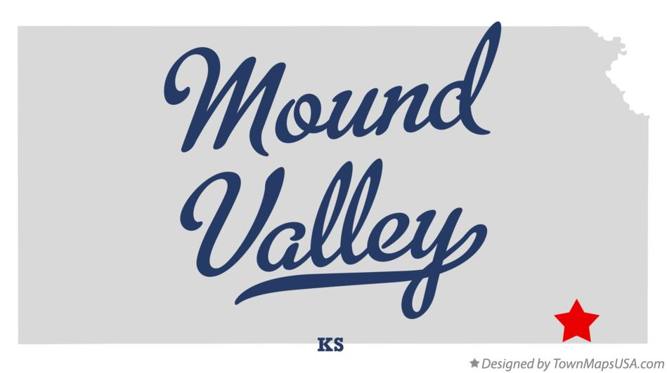Map of Mound Valley Kansas KS