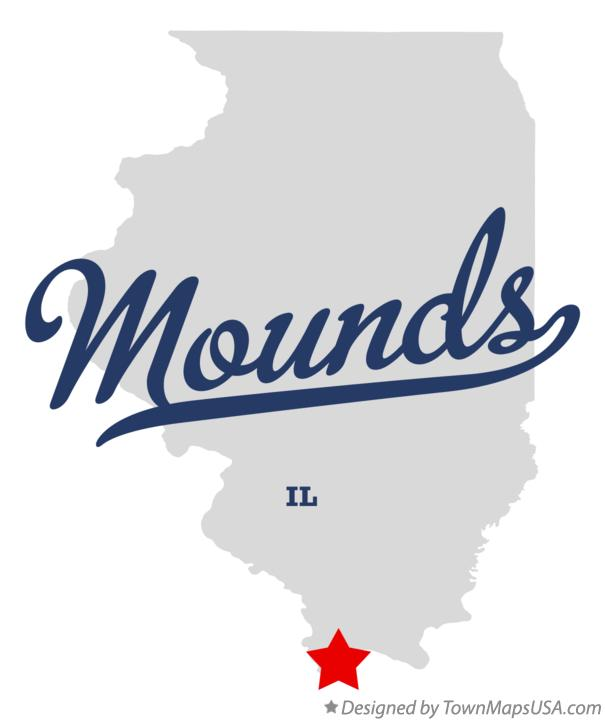 Map of Mounds Illinois IL