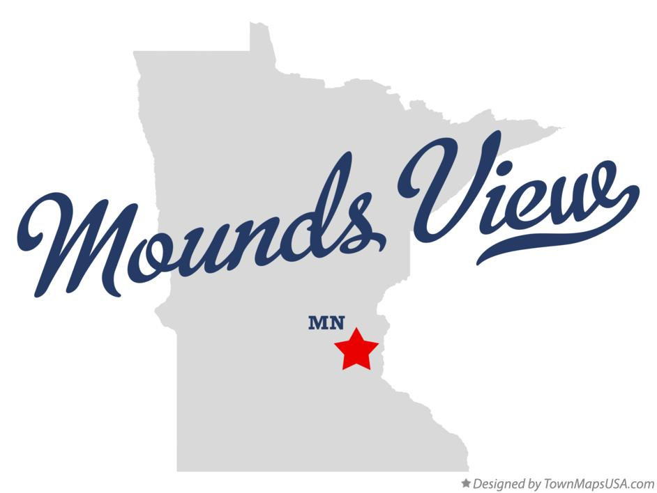 Map of Mounds View Minnesota MN