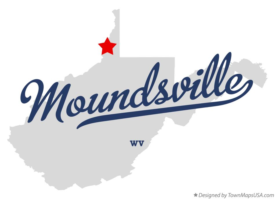 Map of Moundsville West Virginia WV