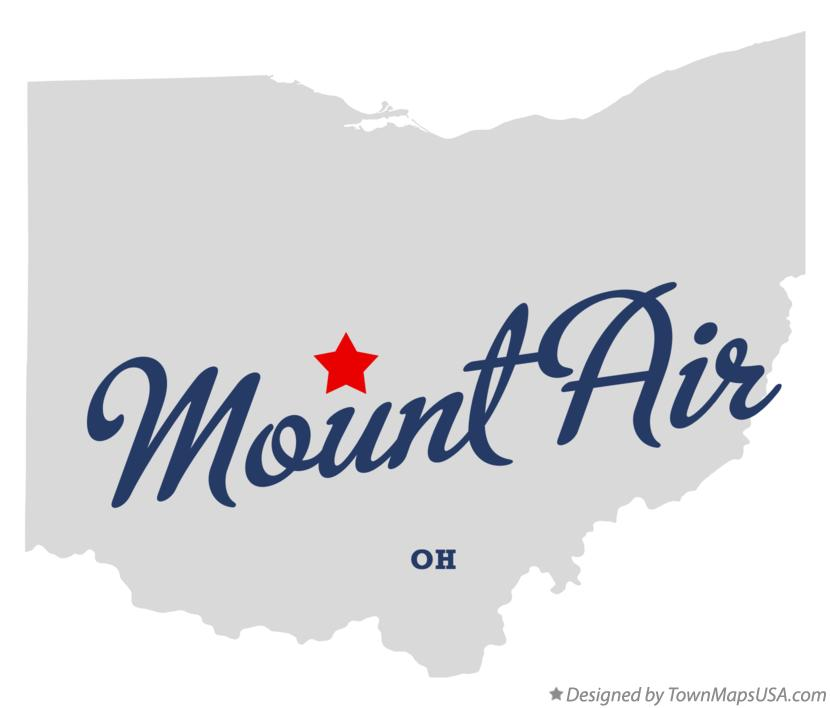 Map of Mount Air Ohio OH