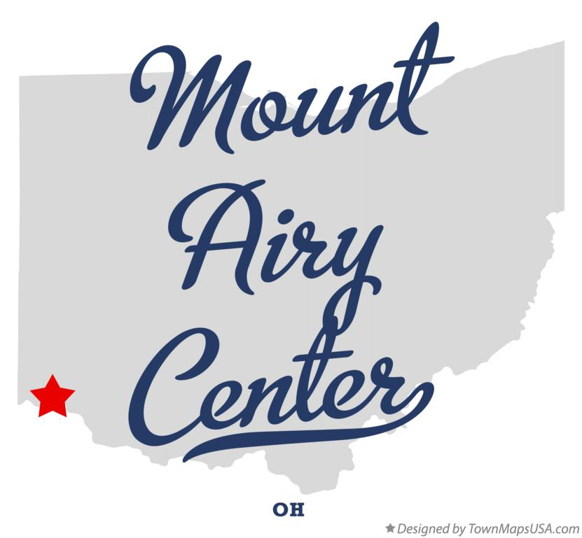 Map of Mount Airy Center Ohio OH
