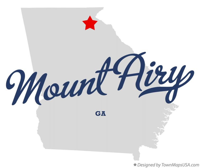 Map of Mount Airy Georgia GA