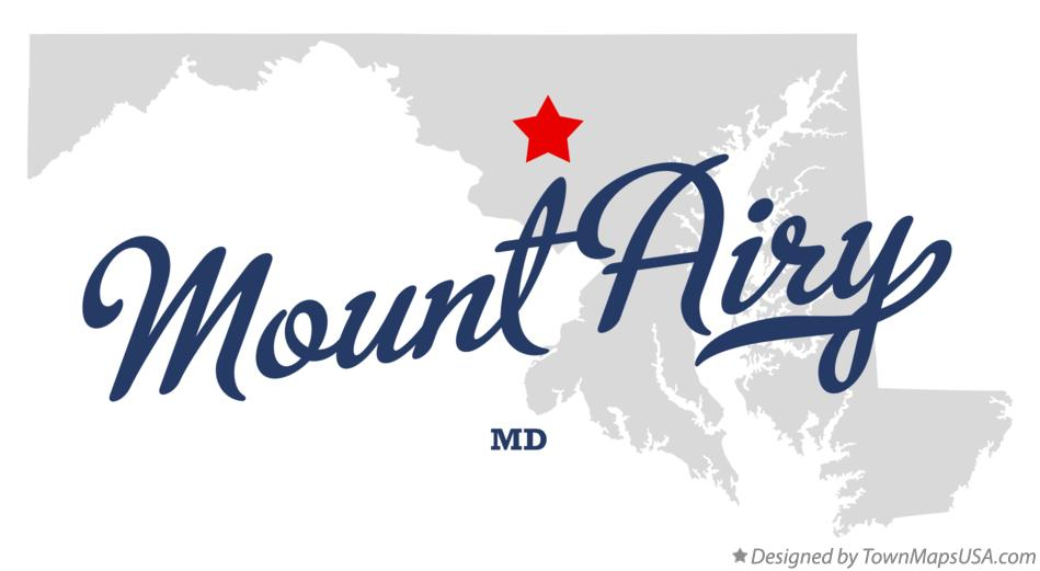 Map of Mount Airy Maryland MD