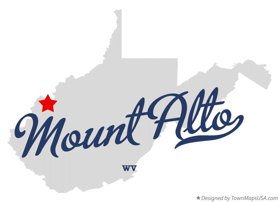 Map of Mount Alto West Virginia WV