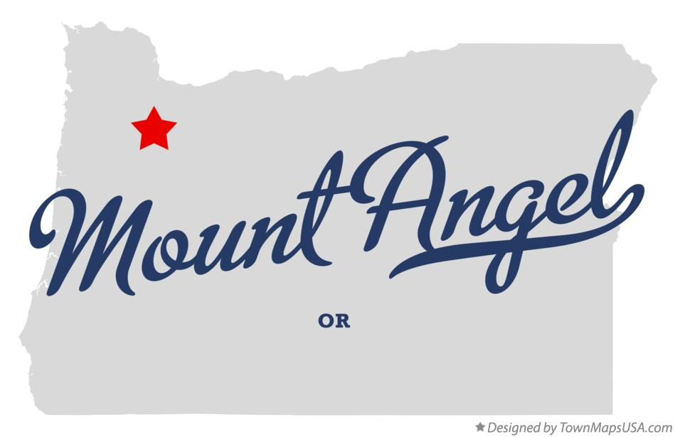 Map of Mount Angel Oregon OR