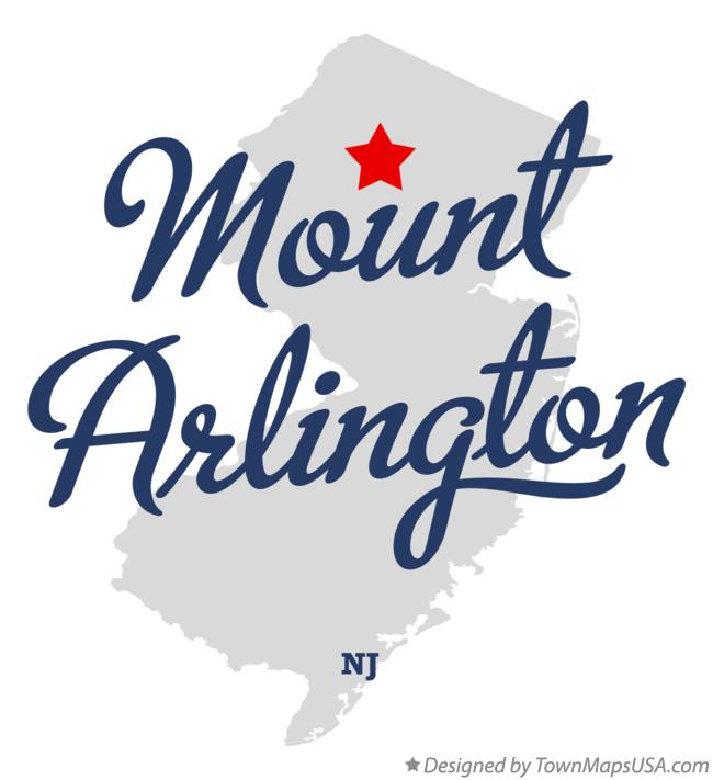 Map of Mount Arlington New Jersey NJ