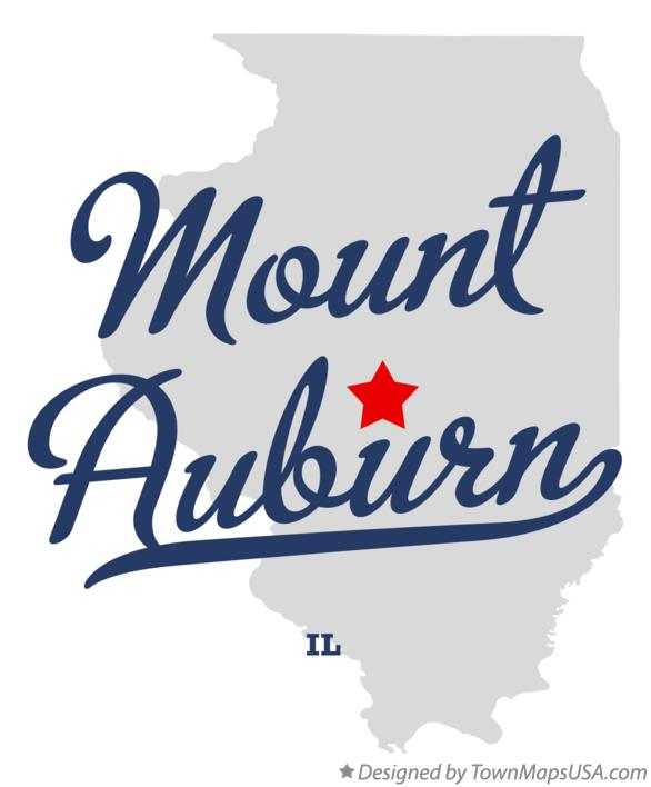 Map of Mount Auburn Illinois IL