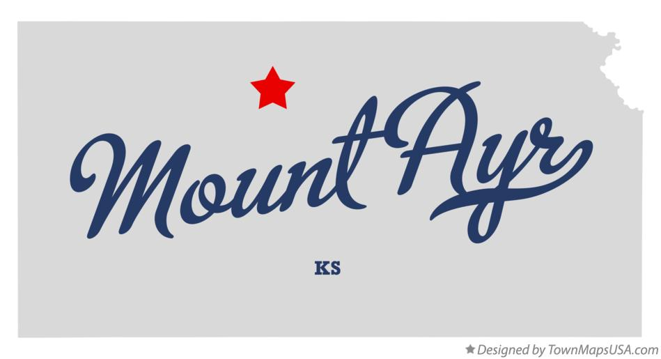 Map of Mount Ayr Kansas KS