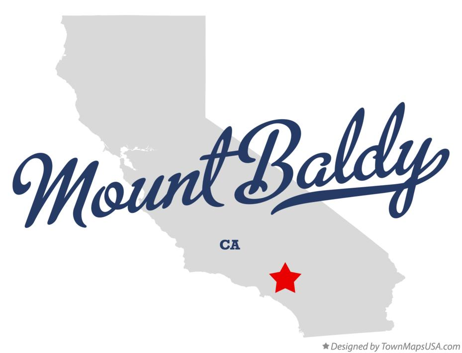 Map of Mount Baldy California CA