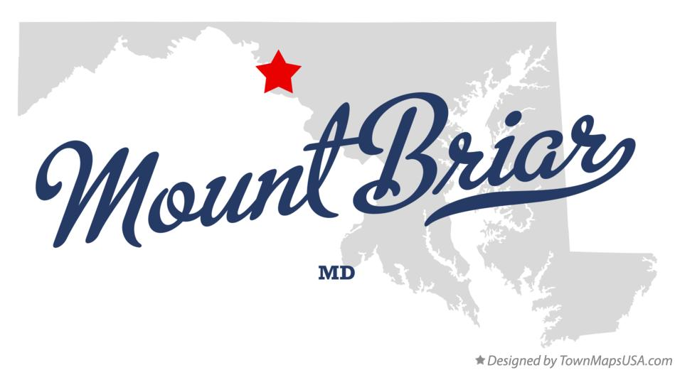 Map of Mount Briar Maryland MD