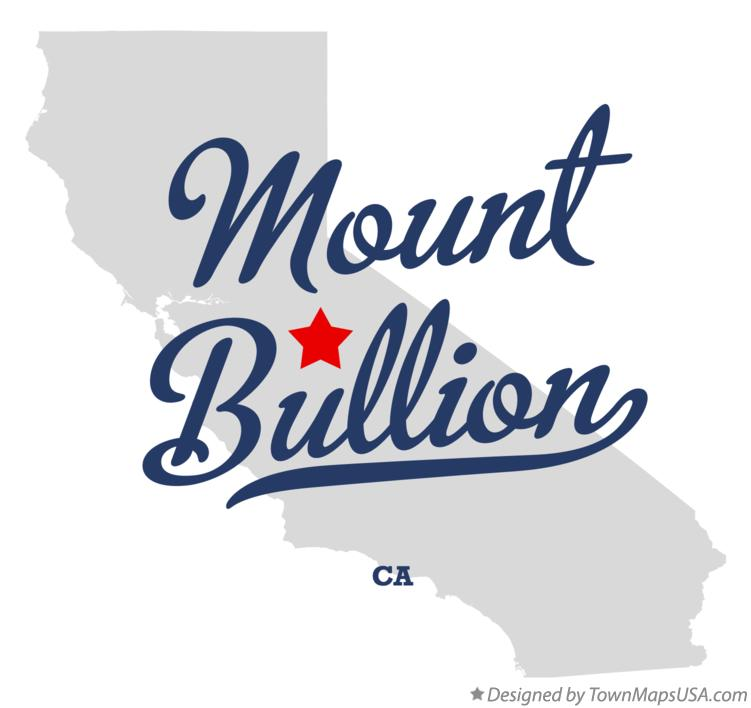 Map of Mount Bullion California CA