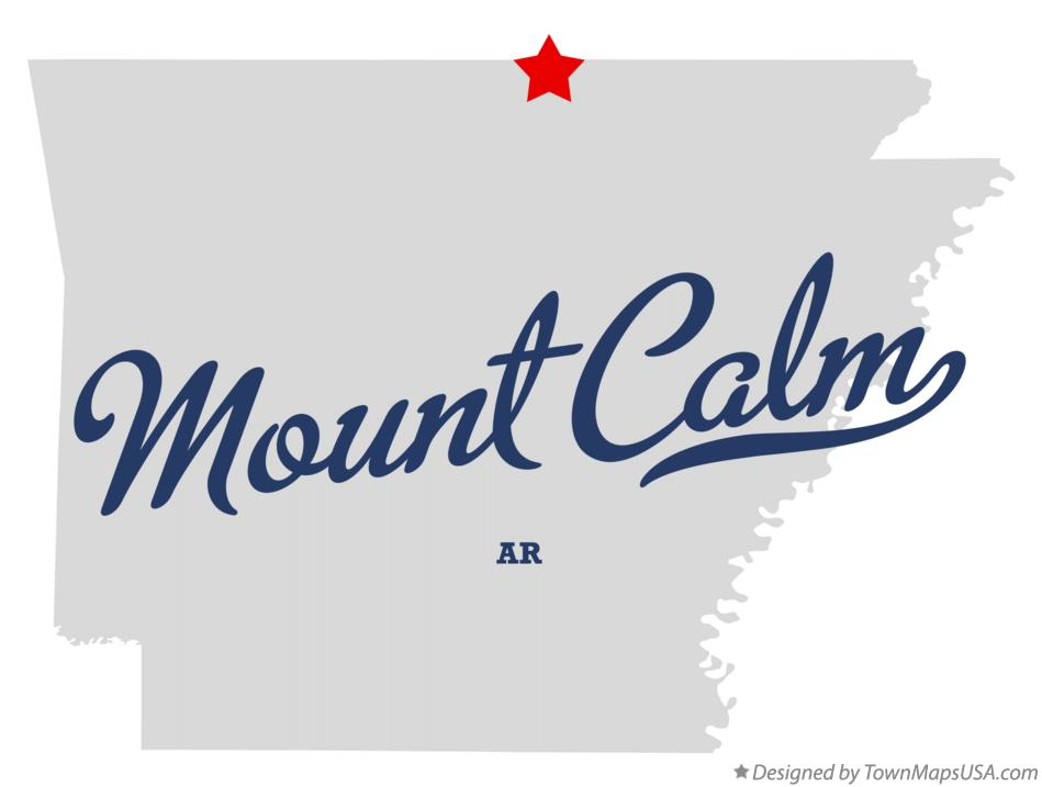 Map of Mount Calm Arkansas AR