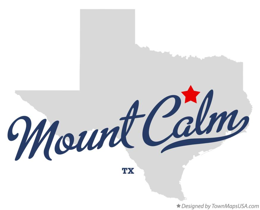 Map of Mount Calm Texas TX