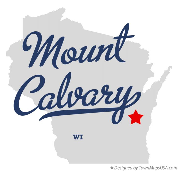 Map of Mount Calvary Wisconsin WI