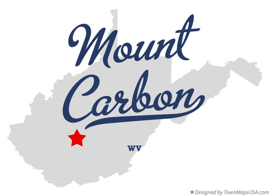 Map of Mount Carbon West Virginia WV