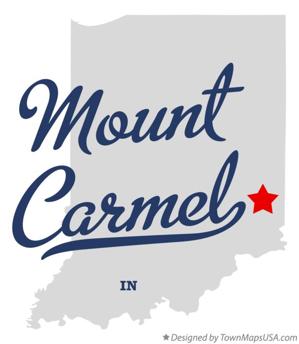 Map of Mount Carmel Indiana IN