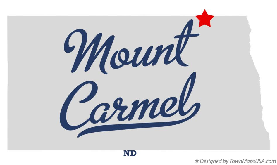 Map of Mount Carmel North Dakota ND
