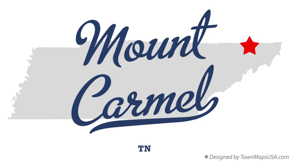Map of Mount Carmel Tennessee TN