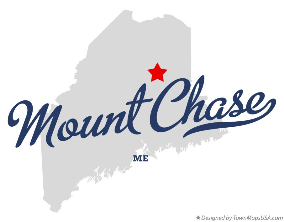 Map of Mount Chase Maine ME