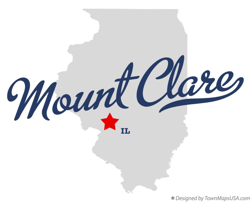 Map of Mount Clare Illinois IL