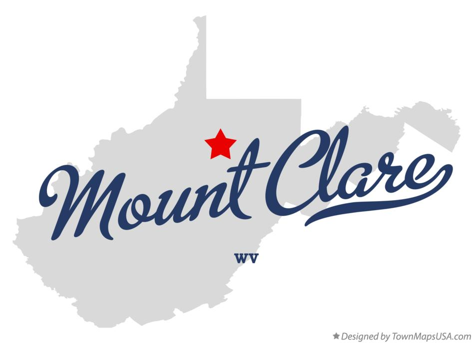 Map of Mount Clare West Virginia WV