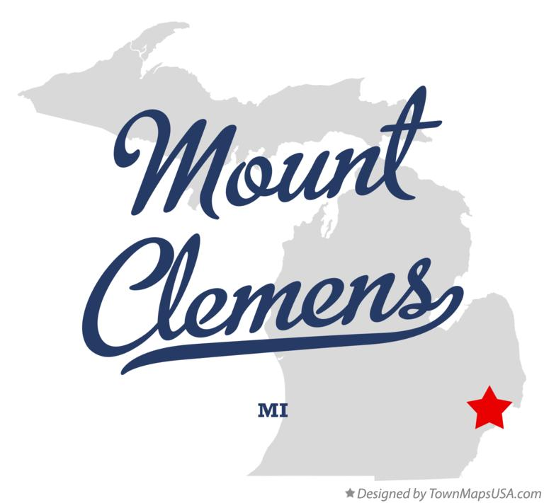 Map of Mount Clemens Michigan MI