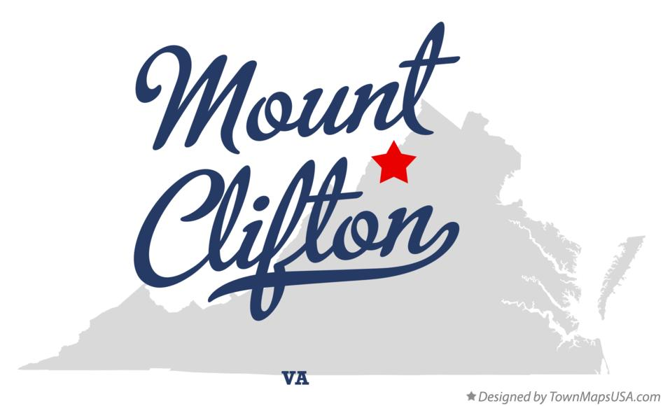 Map of Mount Clifton Virginia VA
