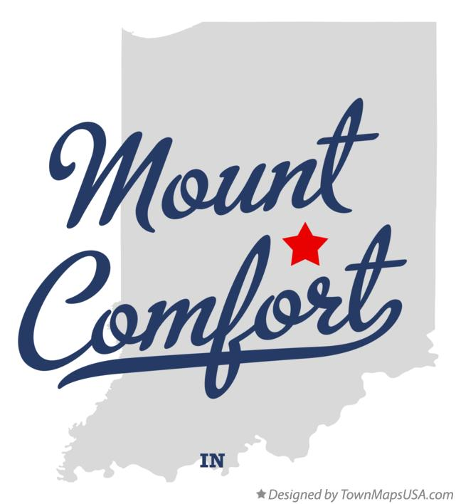 Map of Mount Comfort Indiana IN