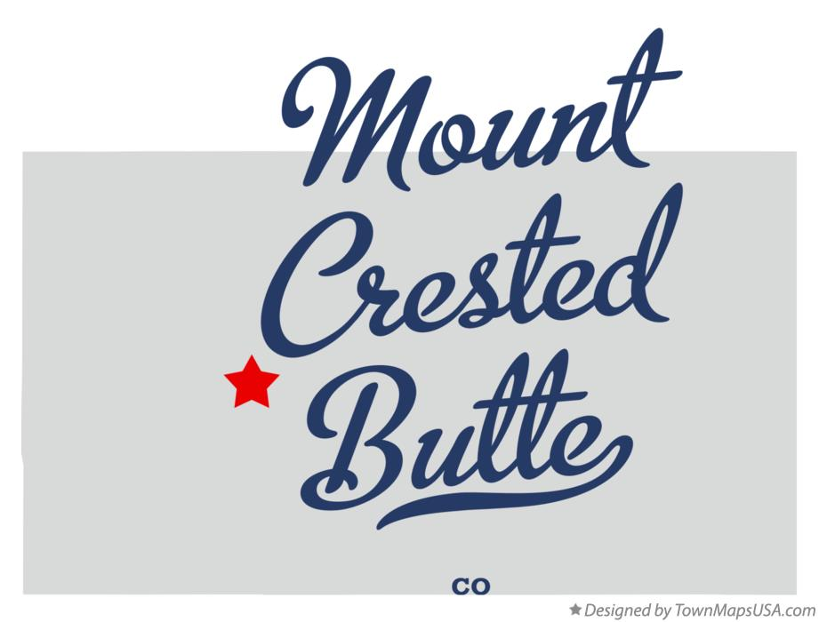 Map of Mount Crested Butte Colorado CO