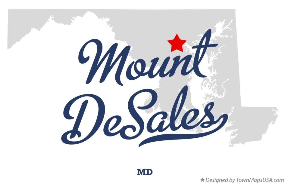 Map of Mount DeSales Maryland MD