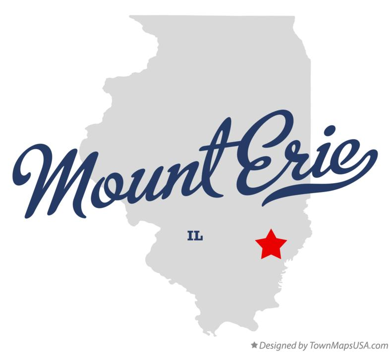 Map of Mount Erie Illinois IL