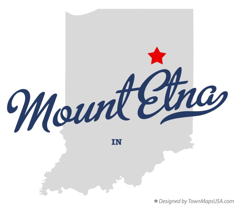 Map of Mount Etna Indiana IN