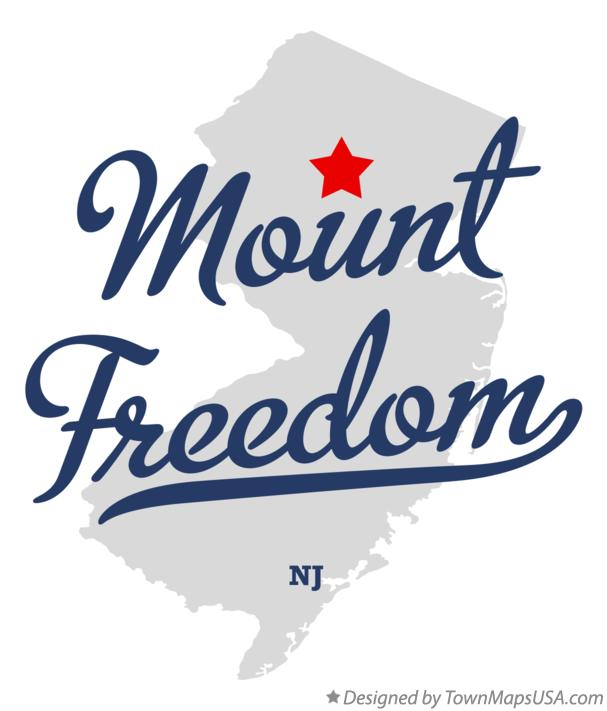 Map of Mount Freedom New Jersey NJ