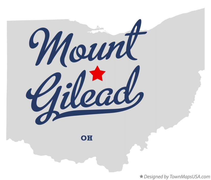 Map of Mount Gilead Ohio OH