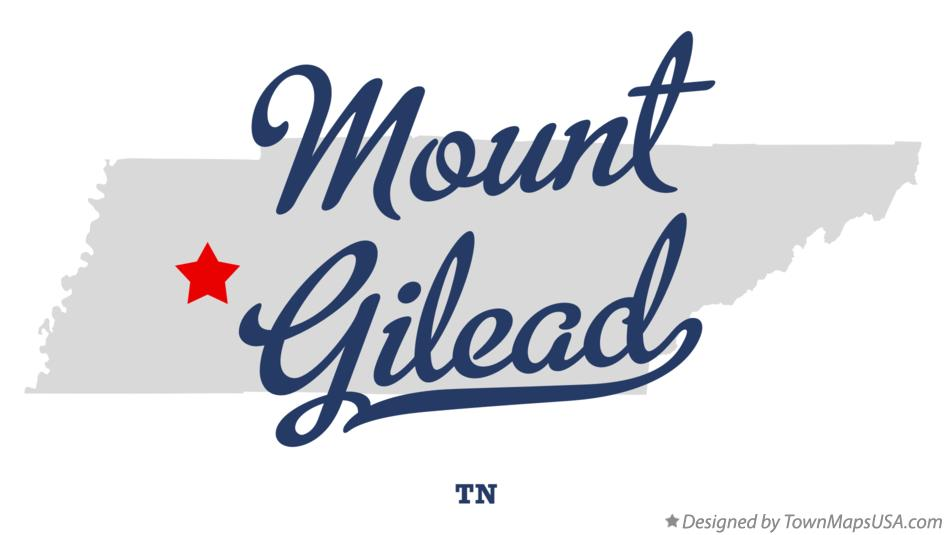 Map of Mount Gilead Tennessee TN