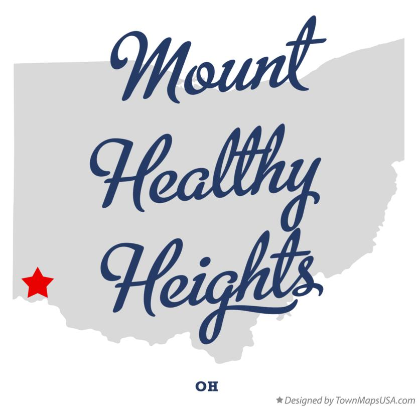 Map of Mount Healthy Heights Ohio OH