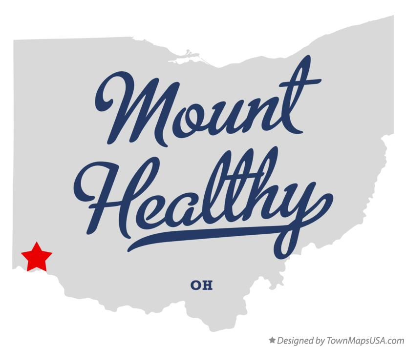 Map of Mount Healthy Ohio OH
