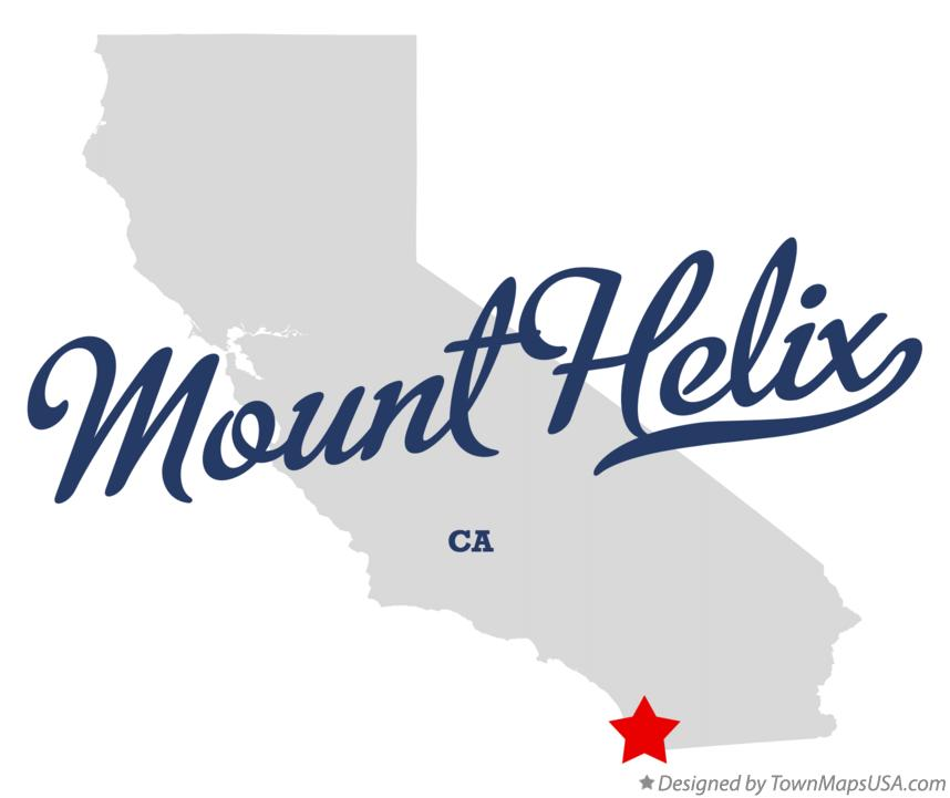 Map of Mount Helix California CA