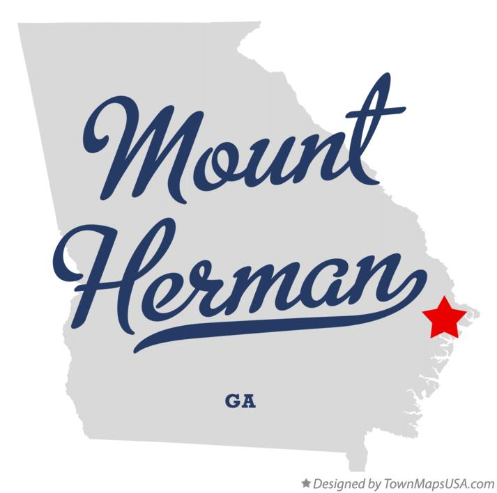 Map of Mount Herman Georgia GA