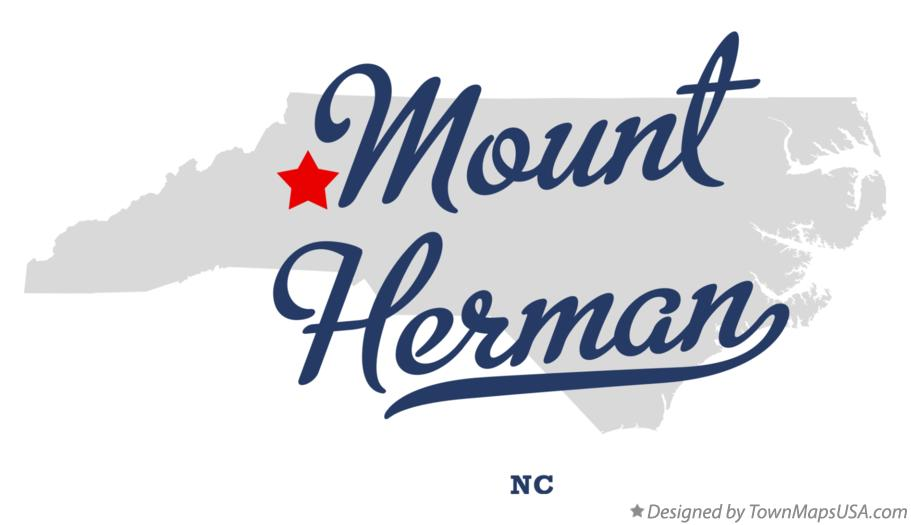 Map of Mount Herman North Carolina NC