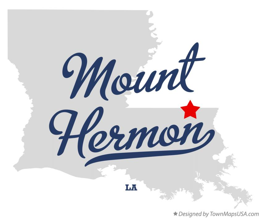Map of Mount Hermon Louisiana LA