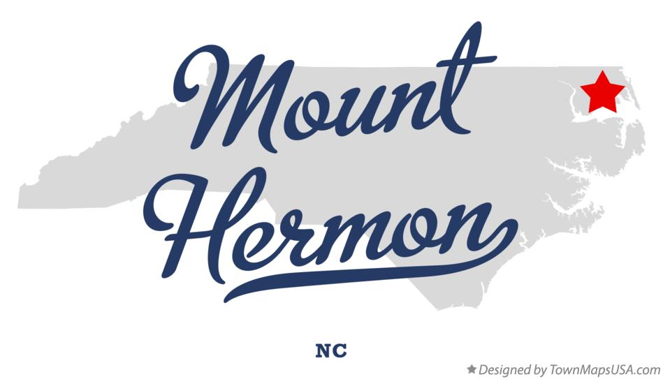 Map of Mount Hermon North Carolina NC