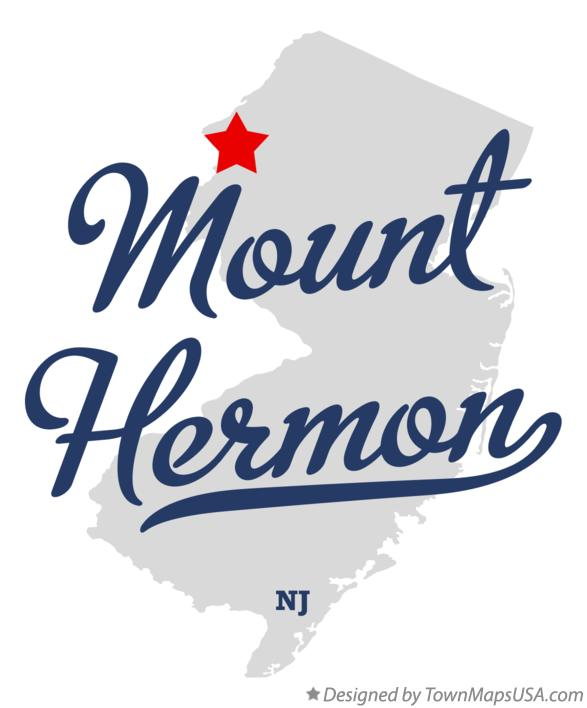 Map of Mount Hermon New Jersey NJ