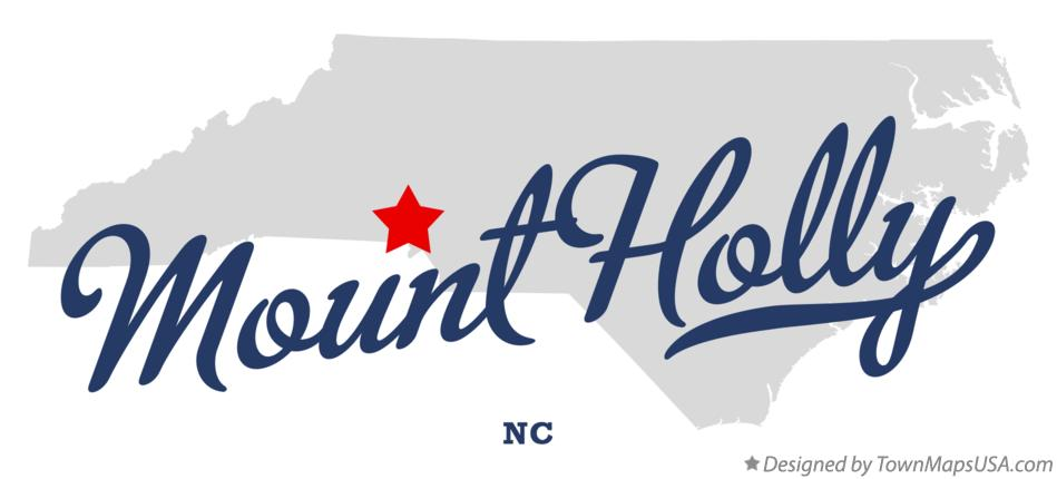 Map of Mount Holly North Carolina NC